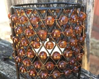 Amber Glow Vintage Candleholder