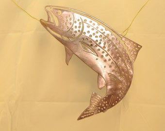 Rainbow Trout Metal Wall Art Decor