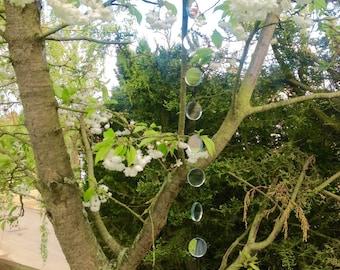 Garden hanging mirrors