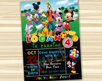 Mickey Invitation. Mickey Mouse Invitations. Mickey Mouse Party Invitation. Mickey Mouse Printable. Mickey Birthday Party