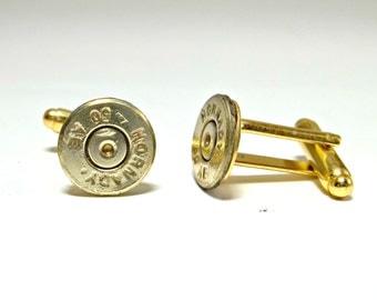 Bullet Jewelry- 50 Caliber Brass Bullet Cuff Links