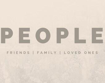 Custom Bookmark: People