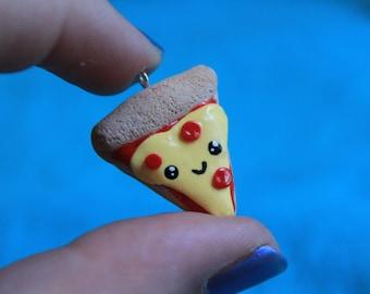 Kawaii Pizza Slice charm