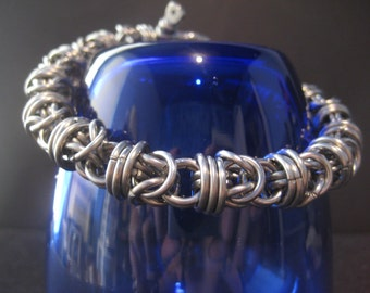 Hybrid Chainmaille Weave Bracelet