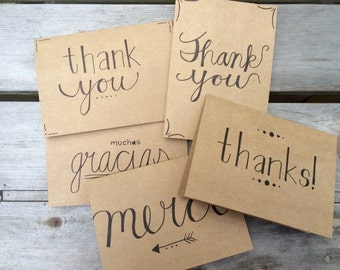 Multi-lingual Thank You Cards - 5 pack