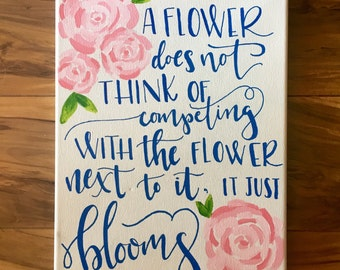 A Flower Blooms Canvas