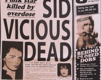 Kühlschrankmagnet Refrigerator magnet Sex Pistols Sid Vicious