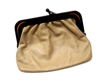 VINTAGE: 1970s - Italian leather Clutch - Italian Handbag - Leather Clutch - Handbag - SKU 19-F2-00005836