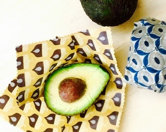 Small 20cmx20cm | Beeswax Eco Wrap | Wrap cut veggies or fruits | Cover for Fermenting