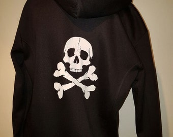 Brand New High Voltage White Pentagram Hoodie. Goth Punk Metal