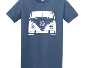 Buddstar Mens Blue Campervan T-Shirt