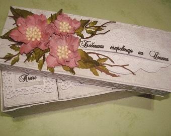 Baby keepsake, flowers box, Baby girl, treasures gift, Baby gift, Pregnancy gift, Newborn gift