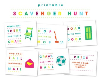 Scavenger Hunt Printable Game for Kids or Children Indoors | Printable Birthday Party Games | Printable Kid Games | Games for 3 year olds