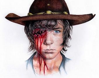 The Walking Dead Art print Carl Grimes - A4 Art Prints