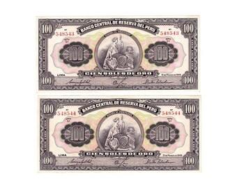Peru Banknote sequencial serial numbers