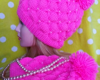Hand made girls beanie