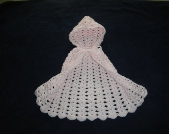 Pretty In Pink Infant Cape w/ Hood