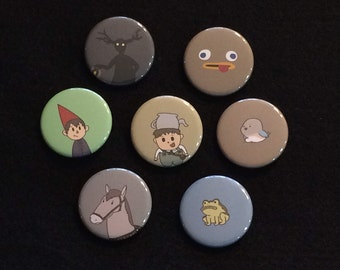 Over the Garden Wall Buttons - Set of 7