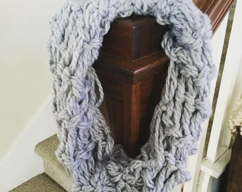 Infinity Scarf arm knitted