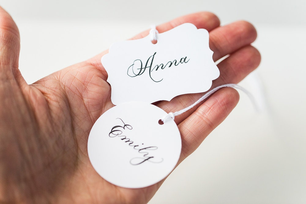 Custom Gift Tag Personalized Calligraphy Handwritten