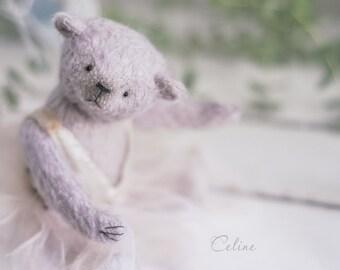 "Mohair Teddy bear ""Balerina Celine"" OOAK teddy bear"