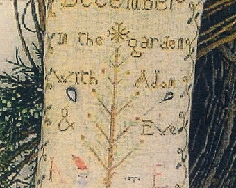 Christmas Adam & Eve by Notforgotten Farm Counted Cross Stitch Pattern/Chart