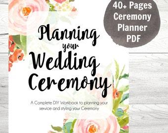 Planning your Wedding Ceremony planner, wedding planner, Instant Download, Digital PDF Workbook