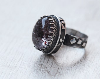 "Ring ""cherry mood"". Size 8"