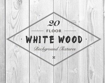 20 White Wood Floor Background Textures