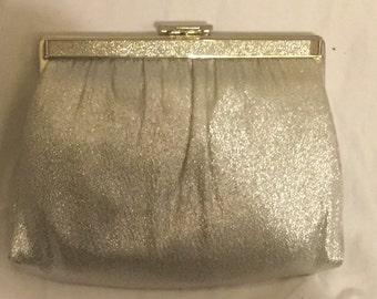 Vintage Ande Silver Lame Clutch