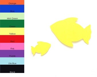 25 Pack - Paper Fish Shape, Fish Die Cut, Fish Cut Outs, Paper Party Supplies, Sea Animal Shapes