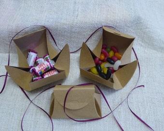 Natural Kraft Handbag Style Gift Box x 10 pieces