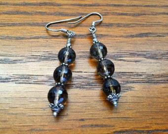 Smokey Topaz Earrings
