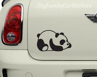 Panda Vinyl Decal Sticker Panda Car Decal Laptop Sticker
