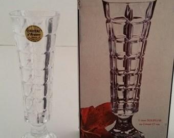 Cristal d' Arques Soliflor Bud Vase/24% Lead Crystal/Durand/Soliflor/Crystal Vase/Durand Vase/Vintage Crystal Vase/Cristal d'Arques Vase