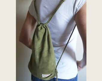 Sage Suede Medium Backpack