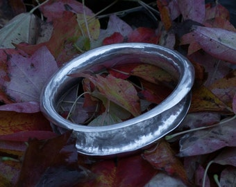 ANTICLASTIC Sterling Silver Bangle, bangle, bangles, silver bangle, silver bangles, silver bracelet, bracelet, silver, sterling silver