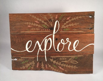 Items Similar To Rustic Red Heart With Key On Etsy