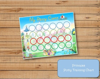 Disney Princess Inspired Potty Training Chart II