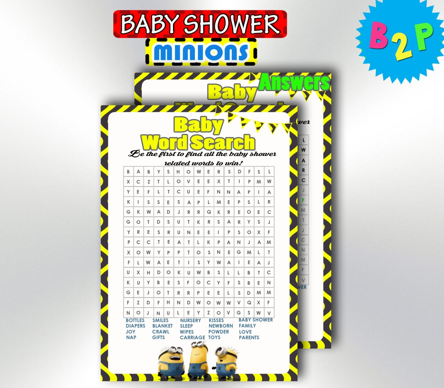 Exciting Word Search Baby Shower Game Plan Xmasmags
