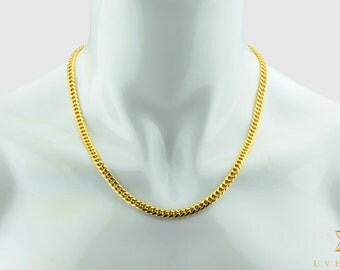 """6mm 14K Semi-Solid Yellow Gold Miami Cuban Link Men's Chain Necklace 16""""-32"""" inches"""