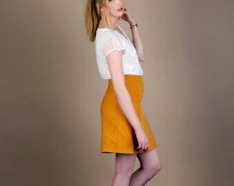 Minnie - Linen Panel Skirt