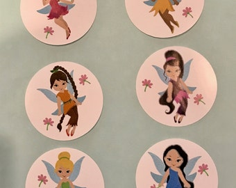 Precut Fairy edible images for cupcakes, cakes and cookies