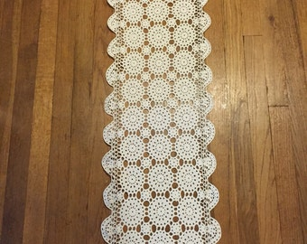 Table Runner - Hand Crocheted