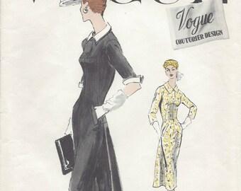 "1956 Vintage VOGUE Sewing Pattern B28"" DRESS (R373) Vogue 911"