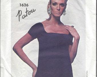1960s Vintage VOGUE Sewing Pattern DRESS B36 (R990) By 'Patou' Vogue 1627