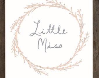 Nursery Wall Art, DIGITAL DOWNLOAD, 8X10 PRINT, Nursery Decor, Little Miss