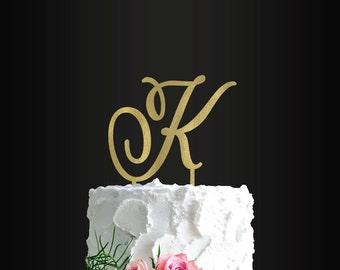 Wedding Cake Topper, Custom Letter Cake Topper, Last Name Initial, Cake Topper, Anniversary, Engagement