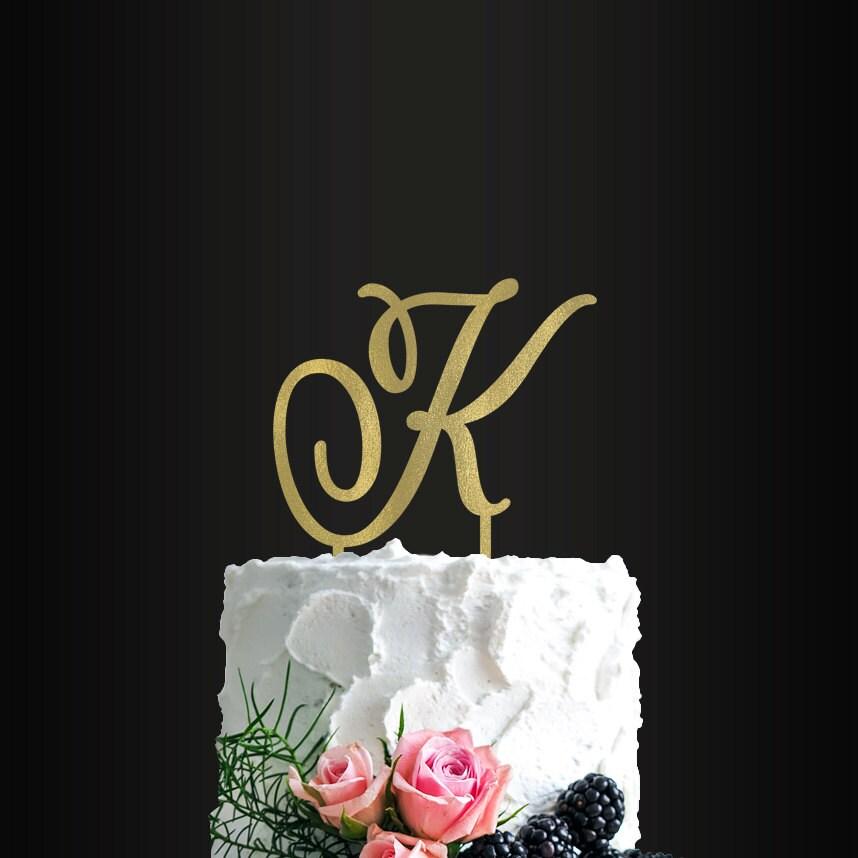 Wedding Cake Toppers Letters Uk : Wedding Cake Topper Custom Letter Cake Topper Last Name