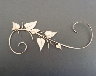 Laser Cut Leaf Flourish